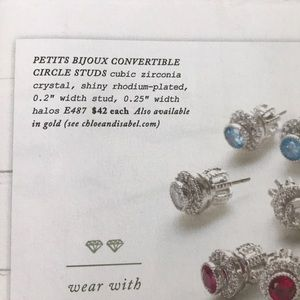 Chloe + Isabel Jewelry - 💌 Petits Bijoux Convertible Circle Studs-November